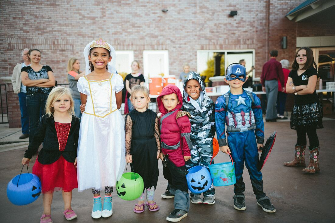 Trick or treating with adopted or foster child